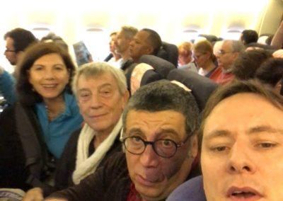 Au départ dans l'avion